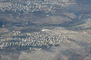 Zawiya, West Bank - az-Zawiya behind, while Rafat is in front