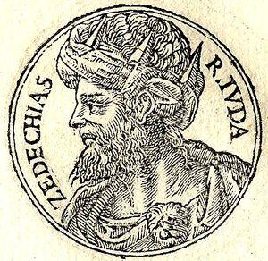 Zedekiah - Zedekiah from Guillaume Rouillé's Promptuarii Iconum Insigniorum, 1553