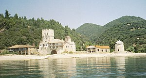 Zograf monastery - Image: Zografou anchorage