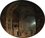 'Figures in a Crypt' by Hubert Robert.jpg