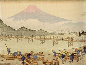 Shin-hanga - Iwabuchi, by Charles W. Bartlett (1916)