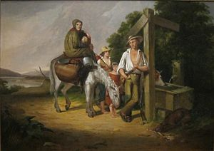 Poor White - North Carolina Emigrants: Poor White Folks, by James Henry Beard, 1845, Cincinnati Art Museum