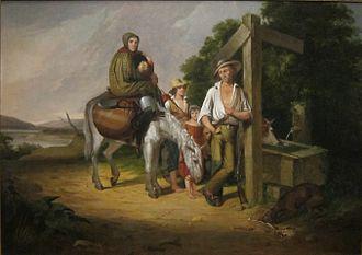 Poor White - North Carolina Emigrants: Poor White Folks, by James Henry Beard, 1845, Cincinnati Art Museum