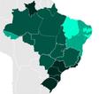 (2019) Literacy rate in Brazilian states-Taxa de alfabetização nos estados do Brasil.png