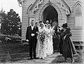 (Portrait of wedding party emerging from church) (AM 79065-1).jpg