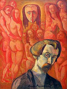 Émile Bernard Autoportrait symbolique 1891