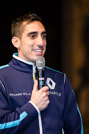 2017 Montreal ePrix - Sébastien Buemi (pictured in 2016) confronted three drivers after the race and was later disqualified for an underweight car.