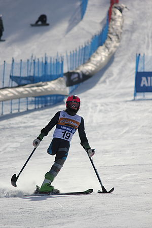 LW2 (classification) - LW2 classified skier Úrsula Pueyo competing at the 2013 IPC Alpine World Championships