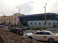 Ústí nad Labem hlavní nádraží, z ulice Hradiště.JPG