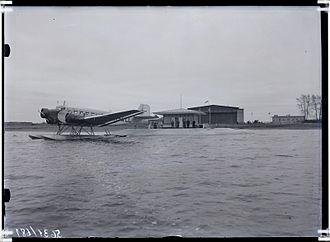Tallinn Airport - A floatplane version of the Ju 52/3m at the seaplane ramp of Ülemiste Airport