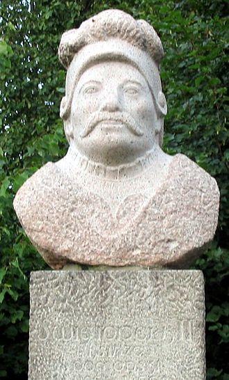 Prussian uprisings - Statue for Swantopolk II of Pomerania in a park in Oliwa