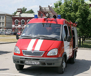 Russian State Fire Service - GAZelle based APP in Saratov.