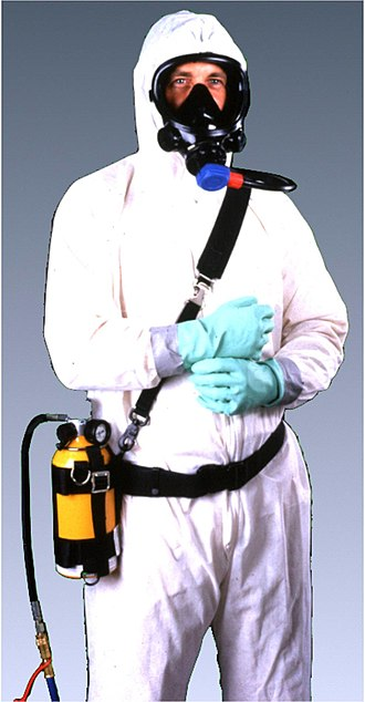Immediately dangerous to life or health - Personal protective equipment for IDLH conditions: pressure-demand supplied-air respirator equipped with a full facepiece in combination with an auxiliary pressure-demand self-contained breathing apparatus