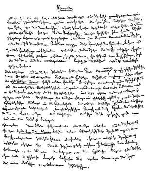 The German Ideology - The first page of the manuscript (written by Marx)