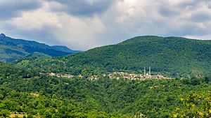 Trebište - Panoramic view of the village Trebište