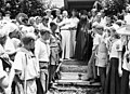 Проводы архиепископа Иоанна с острова Тубабао в США. 1949 г.jpg