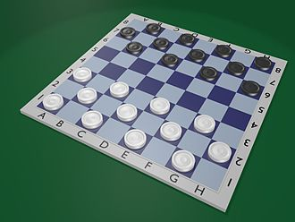 Russian draughts - Image: Русские шашки