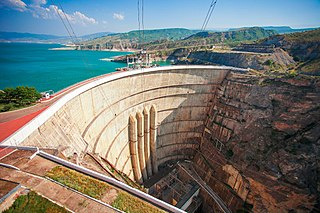 Chirkey Dam Dam in Dagestan