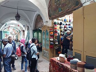 Souks of Tunis - View of souk Ech-Chaouachine