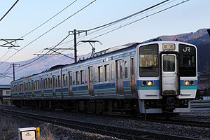 211 series - 211-3000 series in Nagano area livery, March 2013
