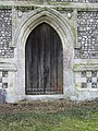-2018-12-10 Doorway in the West elevation of Saint Margaret of Antioch parish church, Suffield, Norfolk.JPG