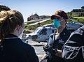 -USS Mount Whitney (LCC 20) medical evacuation drill in Gaeta, Italy, May 7, 2020- (49870680581).jpg