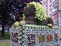 002 Flower sculpture lion, Bytom, Poland.jpg