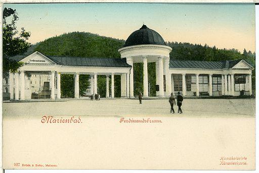 00927-Marienbad-1899-Ferdinandsbrunnen-Brück & Sohn Kunstverlag