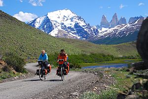 Bicycle touring - Expedition type bicycle touring Cordillera del Paine