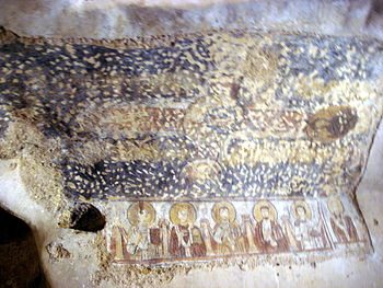 Relics of 8th/9th century byzantine frescos in...