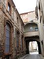 094 Carrer de Valls, al fons el portal de Sant Francesc (Santpedor), cara est.JPG