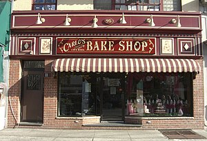 Cake Boss - Carlo's Bake Shop in Hoboken, New Jersey, where the series is filmed.