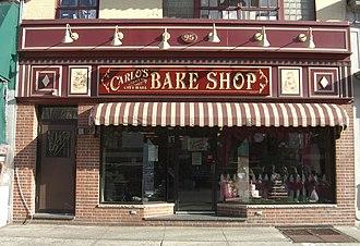 Cake Boss - Carlo's Bake Shop in Hoboken, New Jersey, where the series is filmed.