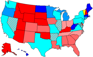 United States House of Representatives elections, 1998 - Image: 106 us house membership