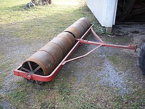 Roller (agricultural tool) - A 12 foot smooth roller
