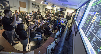 New Horizons - View of Mission Operations at the Applied Physics Laboratory in Laurel, Maryland (July 14, 2015).