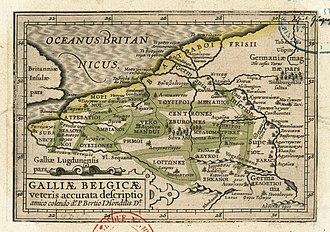 Petrus Bertius - Image: 1602 Gal Belg Vet 29 Bertius Hondius