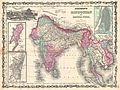 1862 Johnson Map of India and Southeast Asia - Geographicus - India-johnson-1862.jpg