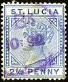 1892 2half St.Lucia violet oval Yv27 SG46.jpg