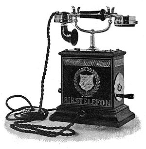 Televerket (Sweden) - Sheet metal telephone 1894