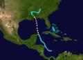 1916 Atlantic hurricane 2 track.png