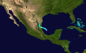 1921 Atlantic hurricane season - Image: 1921 Atlantic hurricane 2 track