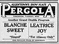 1927 - New Pergola - Theater Ad - 30 Oct MC - Allentown PA.jpg