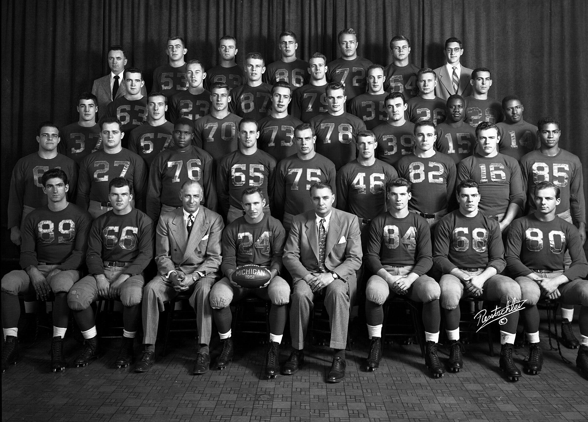 1951 Michigan Wolverines Football Team Wikipedia