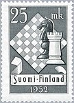 1952 Chess Olympiad Finnish stamp.jpg