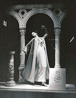 1965 - Hess Brothers Department Store - Window Display - Dress by Antonio Castillo of Paris priced at $9,000.00.jpg