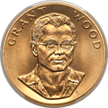 Obverse of a 1980 Grant Wood one-ounce gold medallion