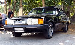 1985-87 Chevrolet Diplomata sedan in black.jpg