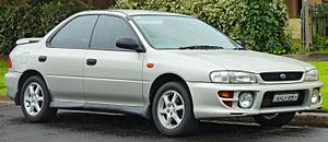 1999 Subaru Impreza (GC8 MY99) RX AWD sedan (2011-08-17) 01.jpg