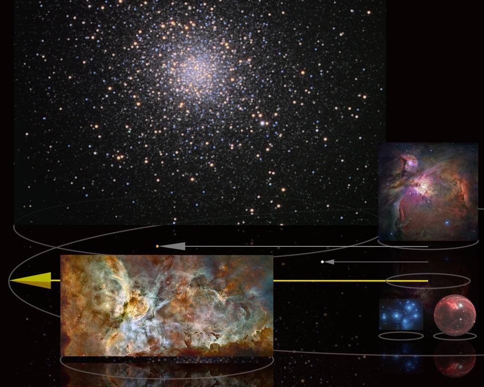 1e17m comparison 100 light years nebula clusters